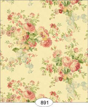 Rose Floral - Green