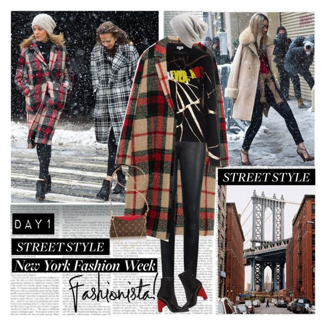 New York Fashion Week Day1 Fashionista by stylepersonal on Polyvore featuring polyvore, fashion, style, Kenzo, By Malene Birger, Balenciaga, PALLAS, Barefoot Dreams, clothing, StreetStyle and NYFW