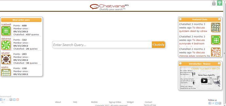 Chatvana - World's First Realtime Lead Generator!