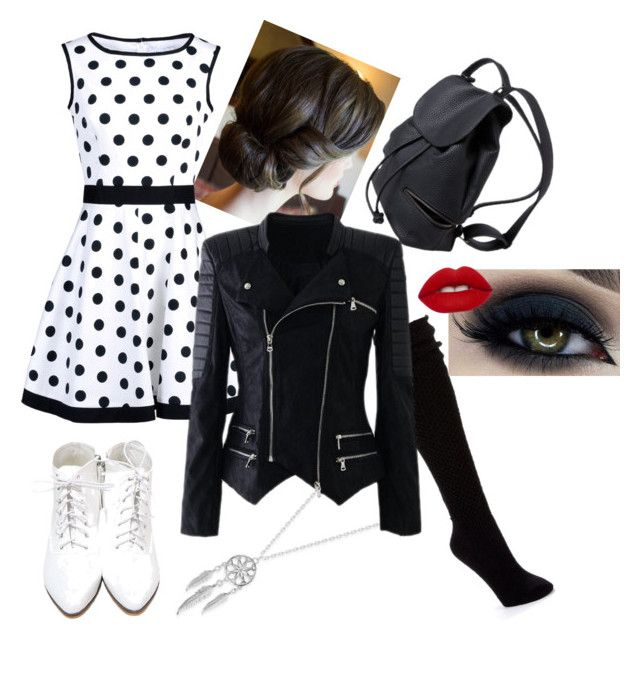 """""""NightLife"""" by rainbowstarfruit ❤ liked on Polyvore featuring Hue, Lucky Brand, Blugirl and Lime Crime"""