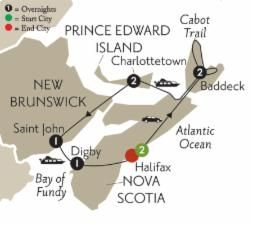 Globus Maritime Discovery Tour - Good itinerary for eastern Canada - Nova Scotia - PEI