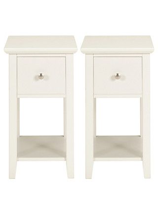Hastings Ivory Compact Bedside Chests | M&S