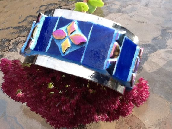 Re-pinn this beautiful Handmade Funky Cuff/Bracelet by MosaicmagicArt on Etsy, $50.00