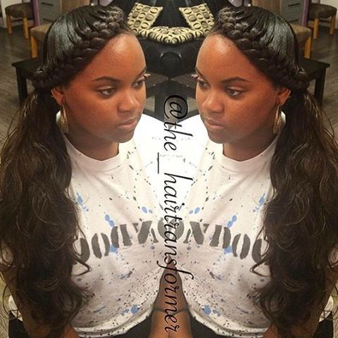 stylist feature how cute is this goddessbraid ponytail styled atlstylist the