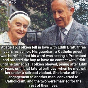 That's amazing that she converted to Catholicism!  JRR Tolkien :)