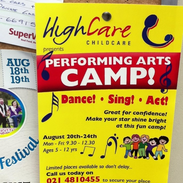 High care performing arts camp for kids