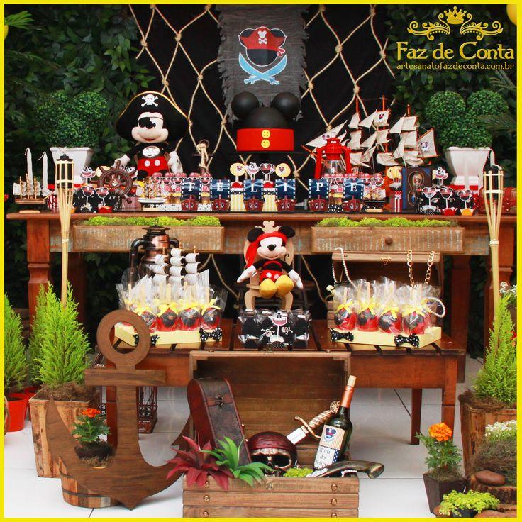 Decoração Festa Mickey Pirata