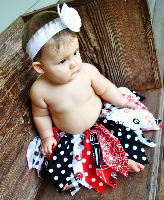 Georgia Bulldogs Fabric Tutu. Perfect accessory for game day! Special orders for other teams including NFL are available!!
