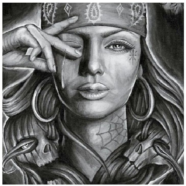 27 best Gangster Girl Tattoo Drawings images on Pinterest ...