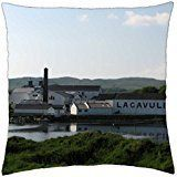 Scotland – Lagavulin Distillery – Throw Pillow Cover Case (18: Modern design will instantly give you a refreshing look Hidden zipper…