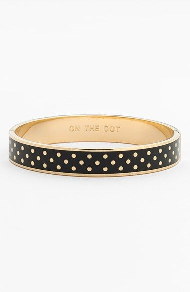 kate spade new york 'on the dot' hinge idiom bracelet available at #Nordstrom
