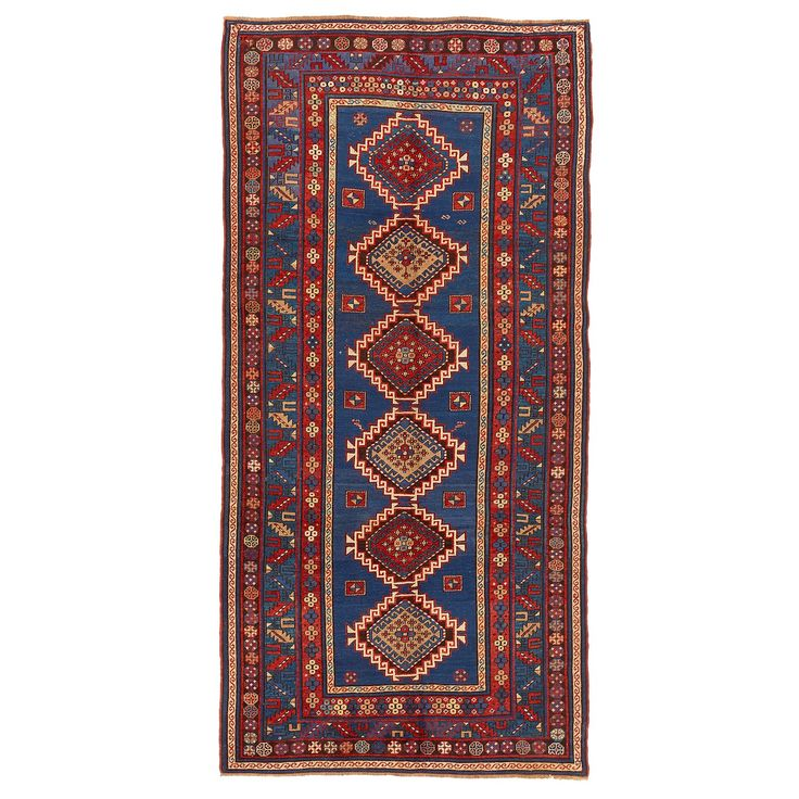 "Antique Kazak Wool Rug - 5'4""x10'10"""