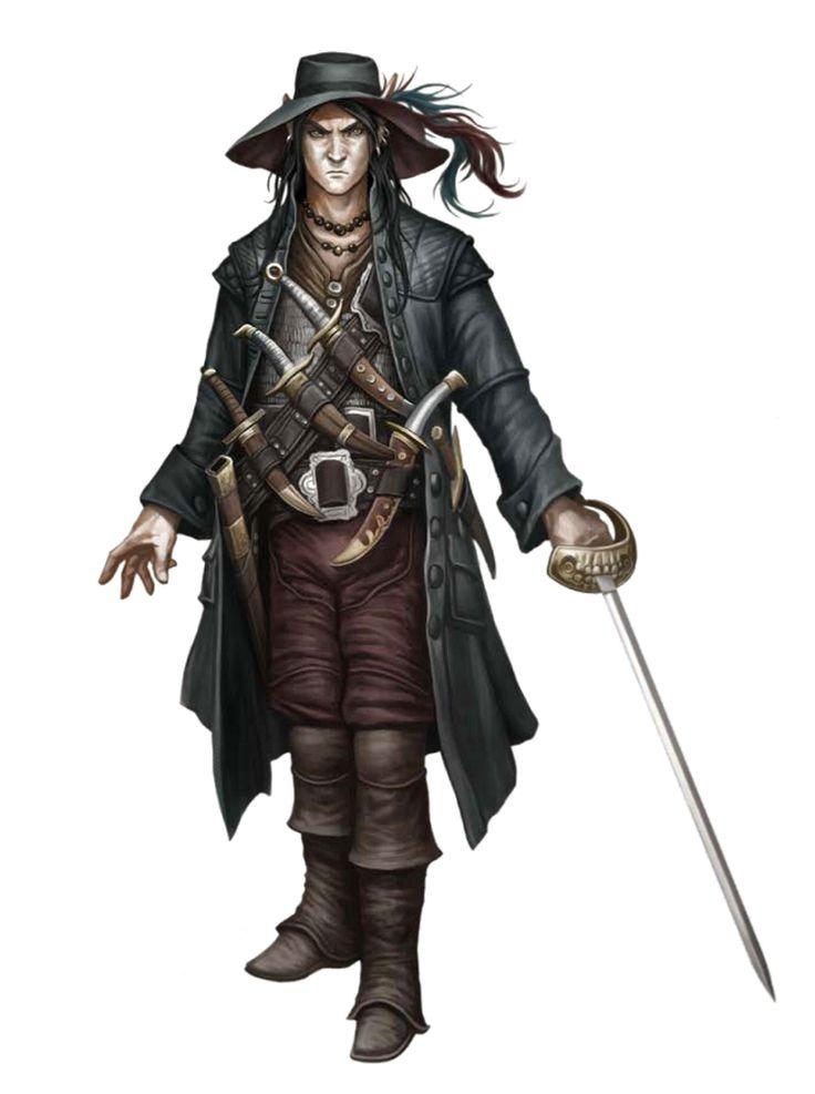 Male Elf Rapier Rogue - Pathfinder PFRPG DND D&D 3.5 5th ed d20 fantasy