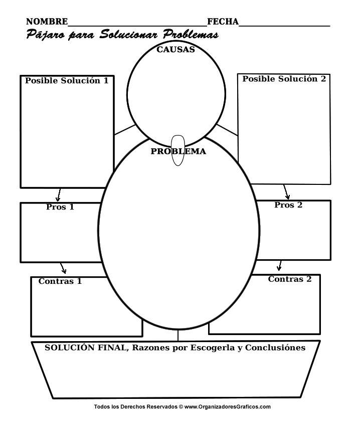 Organizador Avanzado en forma de pajaro para solucionar problemas.