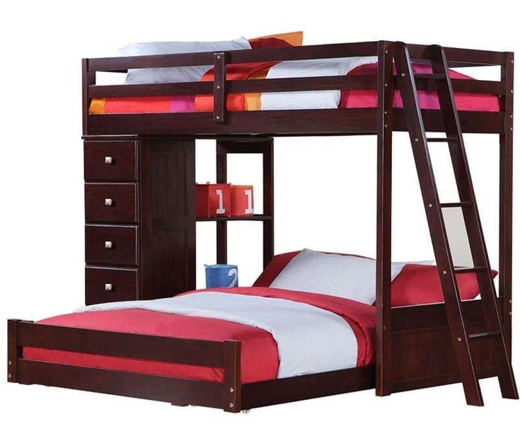 design twin over queen bunk bed
