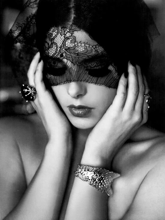 beautiful: Hollywood Life, Black Lace, Life Magazines, Lace Masks Portraits, Masquerade, Posts, Black White, Beautiful Black, Ashley Green