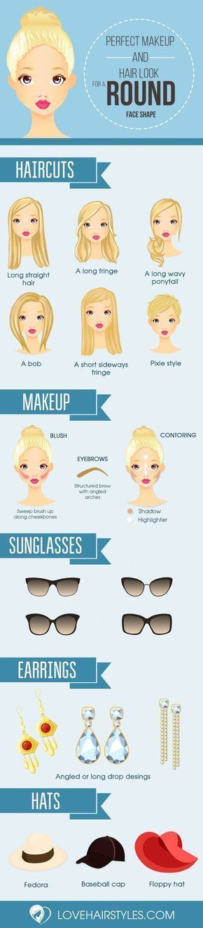 Try These Best Hairstyles and Makeup for Round Faces. #menshairstylesroundface