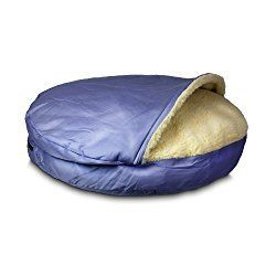 Snoozer Orthopedic Cozy Cave Pet Bed Large Medium Blue - a great bed for your pampered puppy so that you don't have to share your own sleeping accommodations with them http://xacey.com/snoozer-cozy-cave-dog-beds/
