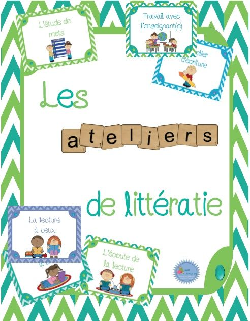 Ensemble (affichage et outils) pour les ateliers de littératie/ les 5 au quotidien