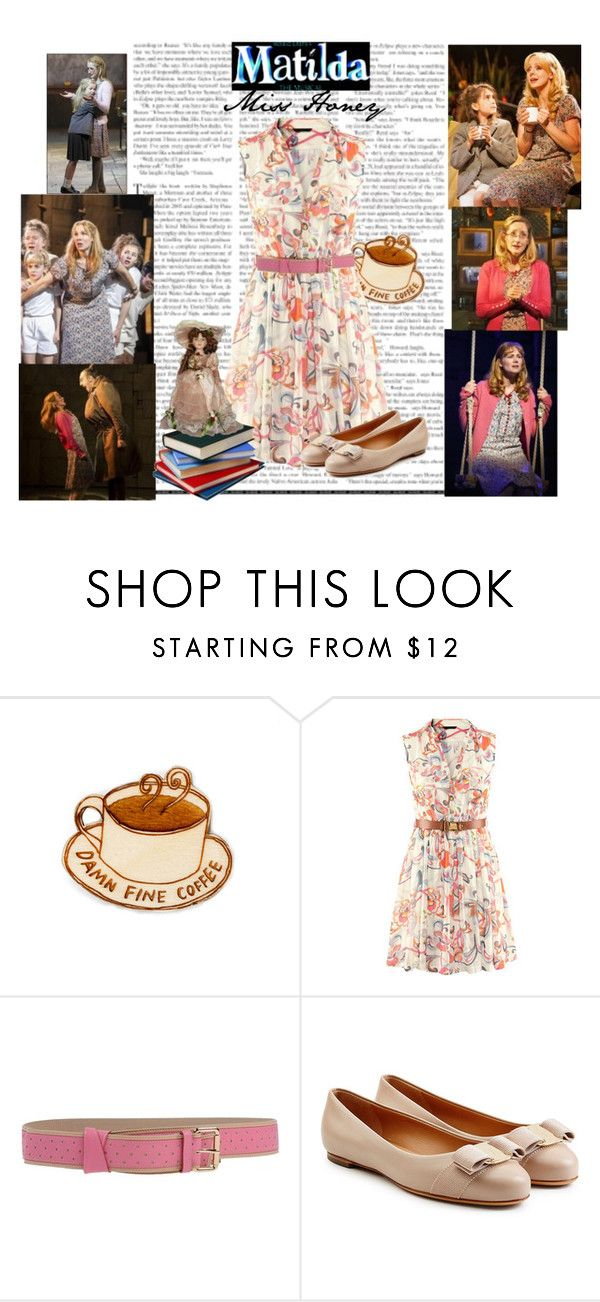 """Miss Honey (Matilda the Musical)"" by jivy44 ❤ liked on Polyvore featuring RED Valentino and Salvatore Ferragamo"