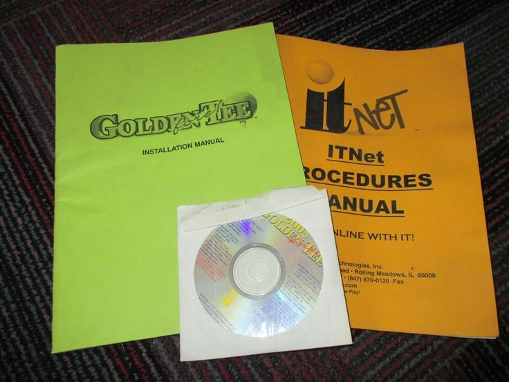 IT GOLDEN FORE 2003 ARCADE GAME INSTALLATION MANUAL, IT NET MANUAL & DISC, GUC #IT