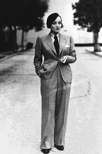 Iconos de moda: Marlene Dietrich, el look masculino