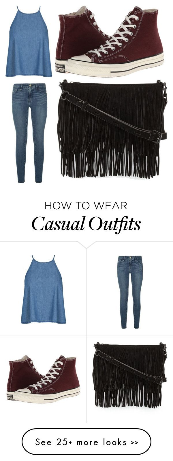 """Casual"" by gracen2004 on Polyvore featuring Frame Denim, Converse and Rebecca Minkoff"