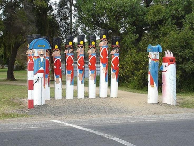 Geelong, Victoria, Australia - King's Regiment Bollards