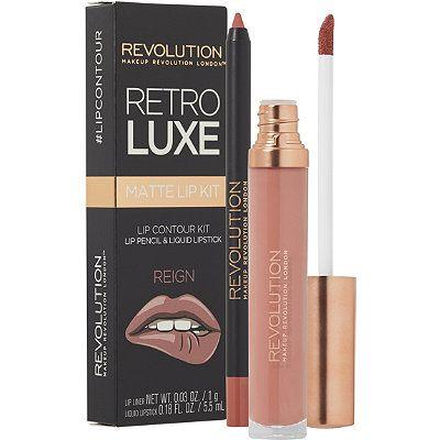 Makeup Revolution Retro Luxe Matte Lip Kit Reign