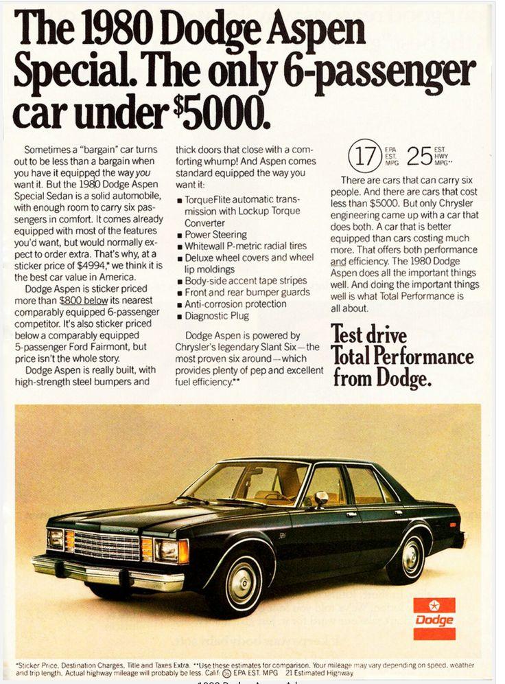 1980 Dodge Aspen Special