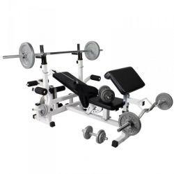 Monipuolinen treeniasema ja 108kg painosarja, 459,54€ Ominaisuudet: 4 x 1,25kg levypainoa, 4 x 2,5kg levypainoa, 4 x 5kg levypainoa, 2 x 10kg levypainoa, 2 x 15kg levypainoa, 8 x kierrelukko. Ilmainen toimitus! #treeniasema