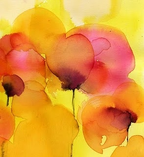 watercolors: Flowers Backgrounds, Watercolor Paintings, Red Poppies, Spring Colors, Watercolors, Vibrant Colors, Watercolor Flowers, Flowers Watercolor, Water Colors