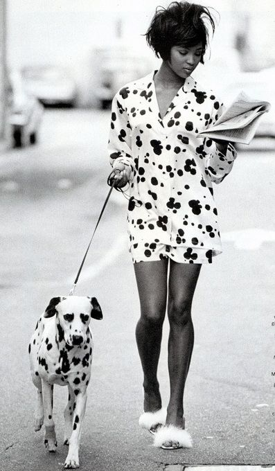 Naomi Cambel. Me and Diesel #naomi #dalmatian #newspaper