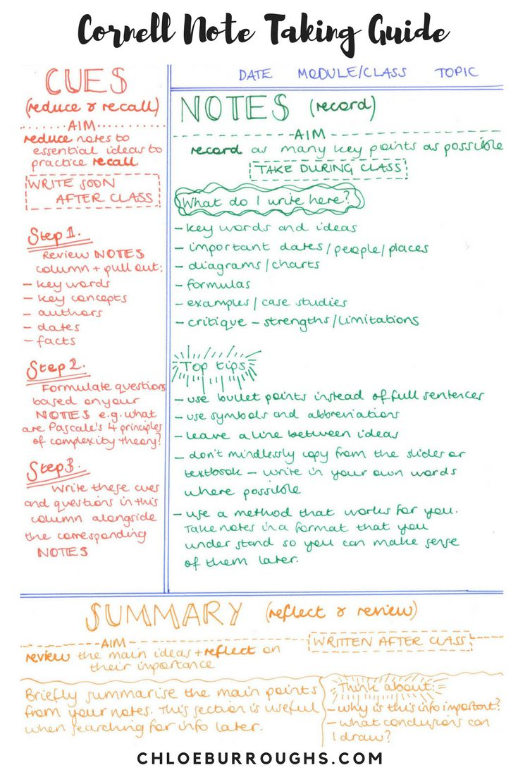 Note taking_ Cornell Notes