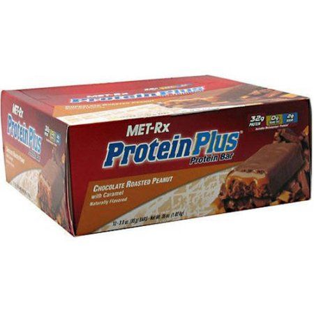 Met-Rx Protein Plus Chocolate Roasted Peanut with Caramel Protein Bars, 3 oz, 12 count