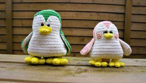 En lille tyk pingvin eller fugl - alt efter hvilket øje der ser på billedet. Det er en fin opskrift og den findes i 2 størrelser. Gratis opskrift