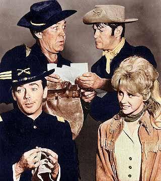 F-Troop (TV Series 1965–1967)  Forrest Tucker   ---   Sgt. Morgan O'Rourke   Larry Storch ---   Cpl. Randolph Agarn   Ken Berry  ----Capt. Wilton Parmenter   Melody Patterson -- Wrangler Jane Angelica Thrift