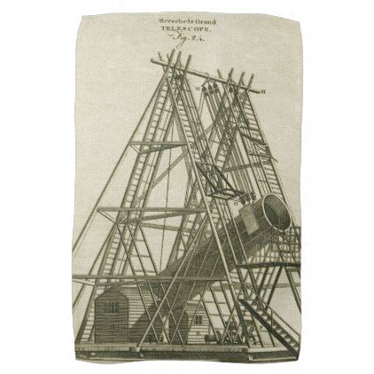 Telescope Antique SCIENCE EQUIPMENT 18TH CENTURY Kitchen Towel - antique gifts stylish cool diy custom