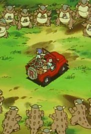 Pokemon Season 1 Episode 34 Kangaskhan Kid. While traveling through the Safari Zone, the gang help a married couple find their lost son, who is being raised by a family of Kangaskhan.