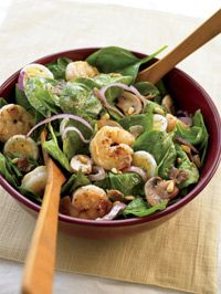 Spinach Salad with Warm Bacon Dressing - Healthy Recipe Finder | Prevention