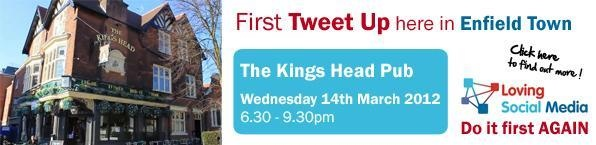 The first ever Enfield TweetUp is tonight at the Kings Head Enfield Town 6.30 pm hope to see you there!