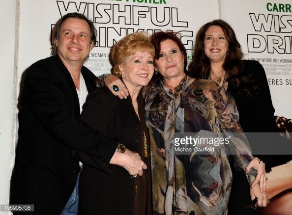 Todd Fisher, Debbie Reynolds, Carrie Fisher, Joely Fisher | Actors Todd Fisher Debbie Reynolds Carrie Fisher and Joely Fisher ...