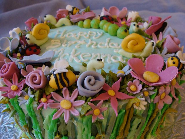 fondant garden cake - Google Search