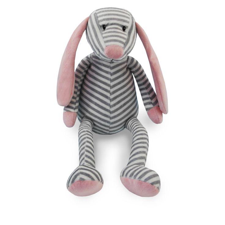Knuffel streep #hond #pluche Kraamkado #kraamcadeau #baby #babykado #geboortekado #babykamer #babyshower op www.hummelkado.nl