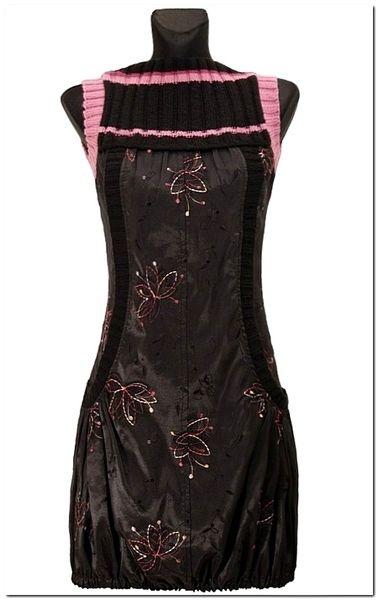 Mini Bombka Czarna  tafta z haftem - kwiaty tiul w agaartpl  na DaWanda.com