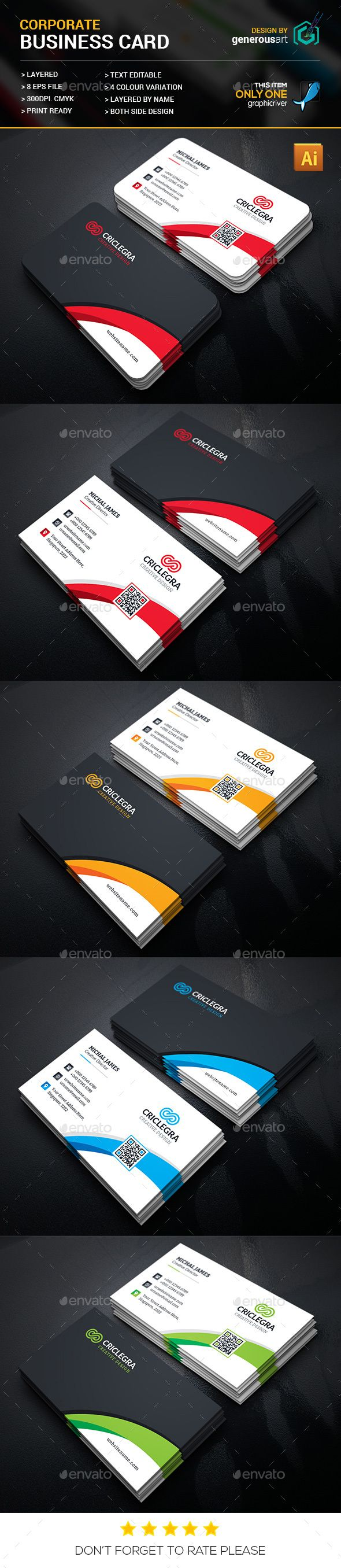 44 best plastic business cards images on pinterest plastic corporate business card design corporate business card template vector eps vector ai download alramifo Image collections