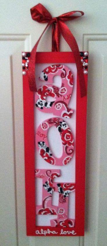 AOPi - AOII - #sorority #crafts #diy #greek #letters #pandas #red