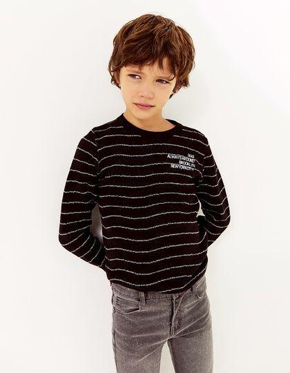 ca1dd64b3b Pull noir garçon - IKKS Junior