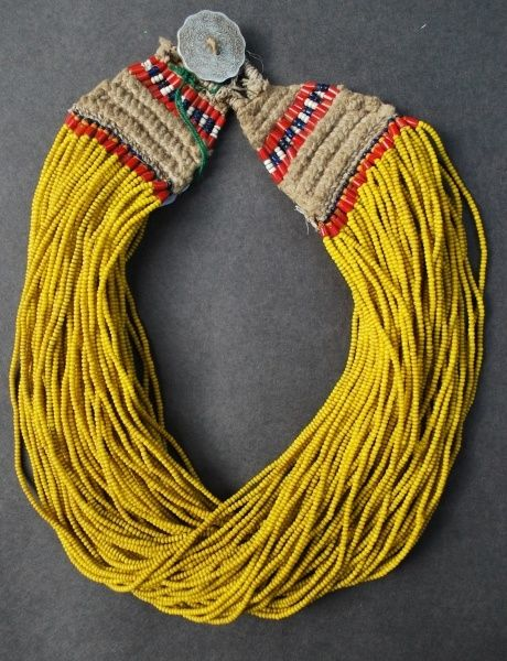 yellow statement necklace.