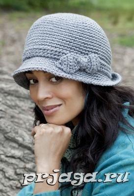 Женская шляпка крючком